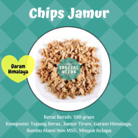 Chips Keripik Jamur Tiram Non MSG - Gluten Free - Diet Special Needs