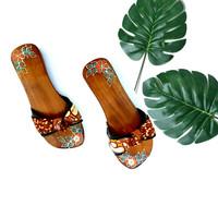 [ORIGINAL] Sandal Slop Wanita Kayu - Bakiak - Klompen