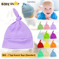Topi Bayi Kuncir Topi Kupluk Bayi BABY STAR Topi Anak BY BHS-1