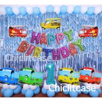 Paket balon tayo bus foil mobil karakter ulang tahun birthday anak