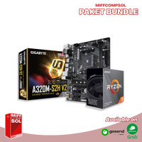 PAKET RYZEN 3 3100 + Motherboard Gigabyte GA-A320M-S2H V2 Chipset B350