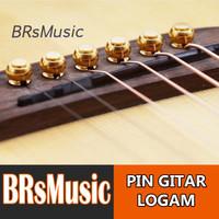 Pin atau Knip Gitar Akustik Bahan Logam