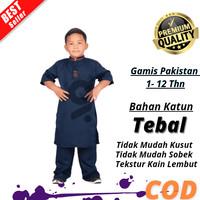 Baju Koko Anak Laki Laki Muslim Model Terbaru Bahan Katun Nyaman