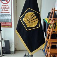 Bendera pataka 2 muka bahan beludru