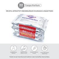 BUY2 GET1 Lapin Tisu Basah Alcohol Hand Sanitizing Tanpa Parfum 30s