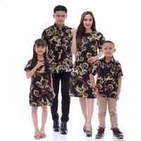 couple baju batik keluarga ayah ibu anak ukuran M L XL