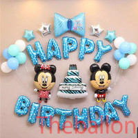 Paket Dekorasi Ulang Tahun Balon Foil Minnie Dan Mickey Mouse