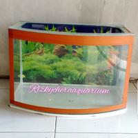 aquarium kaca depan cembung P 41 x L 24 x T 30 Type M