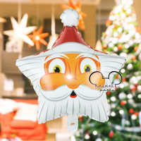 Balon Foil Natal / Balon Merry Christmas / Balon Foil Bintang Santa #1