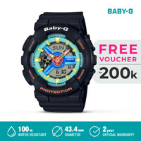 Casio Baby-G Jam Tangan Digital Analog Wanita BA-110NR-1ADR Black Ori