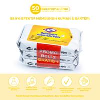BUY2 GET1 Lapin Tisu Basah Multipurpose Disinfectant Lime 50s