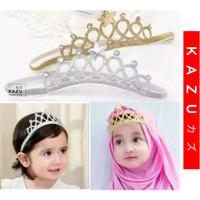 KAZU KHA104 Bandana Bayi Elastis Bando Headband Accessories Anak - Silver