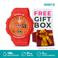 Casio Baby-G Jam Tangan Analog Wanita BGA-255-4ADR Orange Original