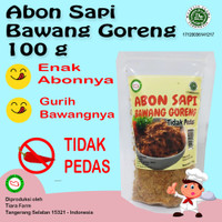 Abon Sapi Bawang Goreng Tidak Pedas 100 g Beef Floss (Tiara Farm)
