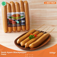 Sosis Ayam Premio Blackpaper 500gr
