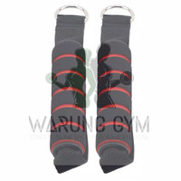 Sepasang Cable Attachment Resistance Band Handle Strap Fitness Gym Yog