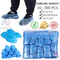 ISI 100 PCS SARUNG SEPATU PLASTIK / JAS HUJAN SEPATU / SHOE COVER