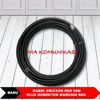 Kabel Antena Radio Rig Rg8 merk Ericsson 25M plus konektor Marushin