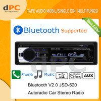 Single Din Audio Tape Mobil LCD Multifungsi Bluetooth USB MP3 FM Radio