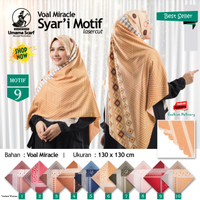 Jilbab Segi Empat Voal Miracle Syari Laser Cut Motif 9 by Umama Hijab