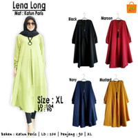 Baju Tunik Jumbo Atasan Wanita Lena Long Bouse Muslim Cewe Berkualitas