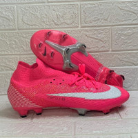 Sepatu Bola Nike Mercurial Superfly VII Elite Mbappe Pink FG Replika