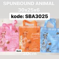 tas kain snack souvenir ultah spunbound motif animal warna isi 12