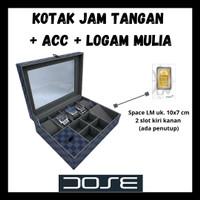 Kotak Jam Tangan / Aksesoris Perhiasan/ Logam Emas Mulia Model L V