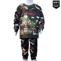HM Baju Setelan Anak laki laki Loreng Army Camo Piyama umur 2-10 tahun