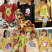 Baju tidur wanita import PP/piyama celana jogger JUMBO