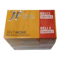 JMELS JF Sulfur BAR SOAP Sabun batang Anti Acne 90g (Beli 2 Free 1)