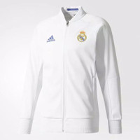 Jaket Bola - ADIDAS Real Madrid Home Anthem Jacket / White AP184