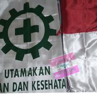 Set Bendera K3 bahan satin uk.90x135cm