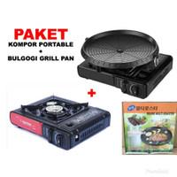 PAKET KOMPOR PORTABLE BBQ BULGOGI GRILL PAN