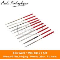 Kikir Mini / Mini Files 1 Set Panjang 14cm Lebar 6mm