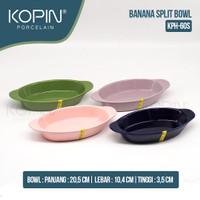 RAMEKIN OVAL BANANA SPLIT Porcelain I KOPIN