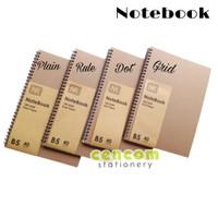 Notebook Spiral Jurnal Buku Tulis Catatan Ring B5 Dot Grid Rule Plain