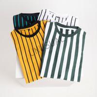 Kaos Baju Stripe Vertikal Vertikal Pertikal Garis Belang Pria Wanita