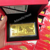 ANGPAO EMAS Gold Plated KERBAU 2021 / ANGPAO EMAS HK 24K Au 999