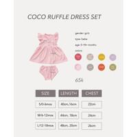 Cocopop Baby COCO Ruffle Dress Set ( Baju Polos Kaos Katun Anak Cotton