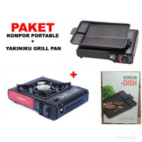 PAKET KOMPOR PORTABLE BBQ YAKINIKU GRILL PAN