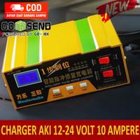Smart Charger AKI Mobil Motor Cas AKI 12 V dan 24 Volt 10 A Fast - Kuning