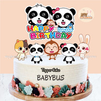 Topper Cake BABYBUS Hiasan Kue Ulang Tahun Cupckae