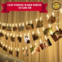 Lampu Hias Clip String 2m 20 LED Dekorasi Kamar Taman Tumblr Natal