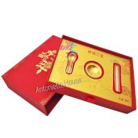 ANGPAO LM EMAS 24k / KADO IMLEK SET MANGKOK EMAS Gold Plated HK Au 999