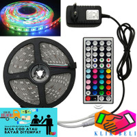 Lampu Strip RGB LED 5 Meter SMD Tumblr 3528 Remote + Adaptor + Modul