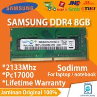 RAM LAPTOP SAMSUNG DDR4 8GB SODIMM 2133Mhz PC17000 NOTEBOOK MEMORY ORI