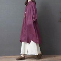 Baju Atasan Wanita Tunik Import Lengan Panjang Ukuran Jumbo Bigsize
