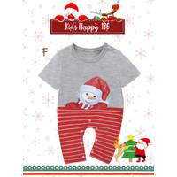Baju Romper Jumper Natal Christmas Snowman Salju Bayi Laki-Laki - 3-6 Bulan