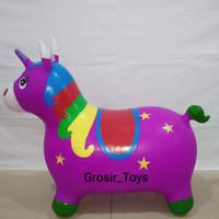 Animal jumping karet TEBAL Unicorn warna (SNI) / Mainan Kuda Kudaan
